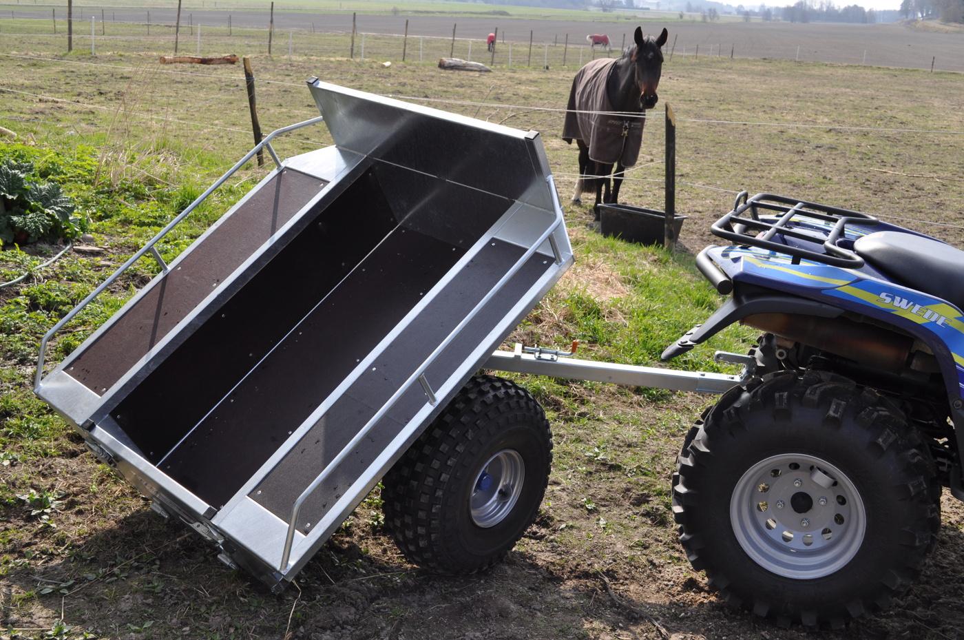 Gårdsvagn Exklusiv med tippat flak